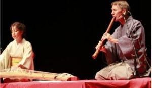 Yoko and David performing