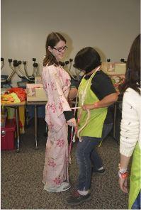 Pink Kimono fitting